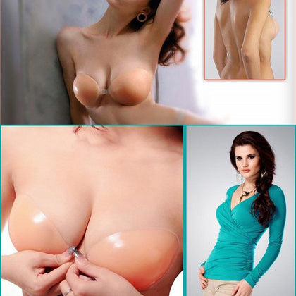 Αόρατο σουτιέν σιλικόνης - UnBra Silicone Nude Color Backless/Strapless Bra GL-3407 - afasia.gr