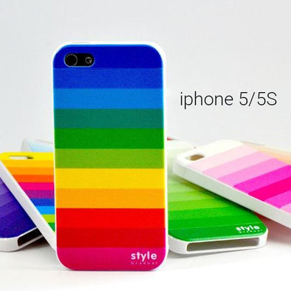 Πολύχρωμη θήκη back case για iPhone 5/5S - Back Case with colour for iPhone 5/5S GL-3416 - afasia.gr