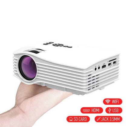 WiFi ready projector UC36+ με HDMI/USB/SD - Λευκό GL-W48864 - afasia.gr