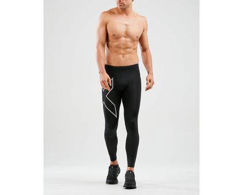 2XU M Run Dash Compression Tights (Black/SRF)