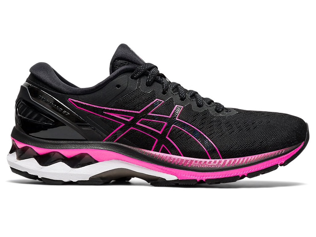 Asics W Gel Kayano 27 (Black/Pink Glo)