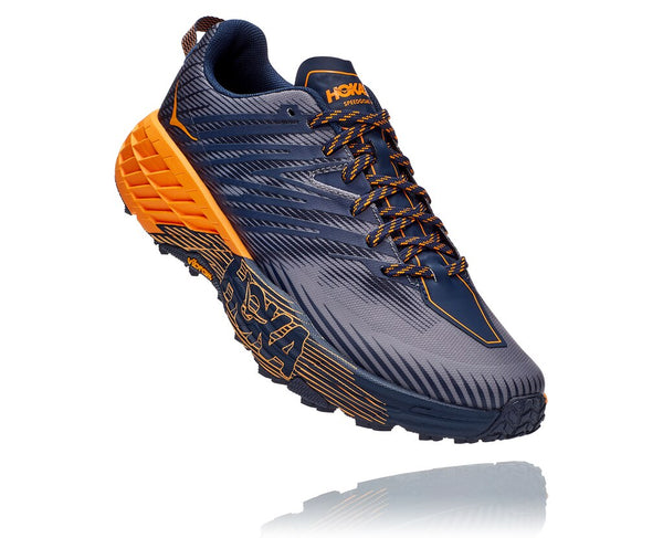 Hoka One One M Speedgoat 4 (Black Iris/Bright Marigold)