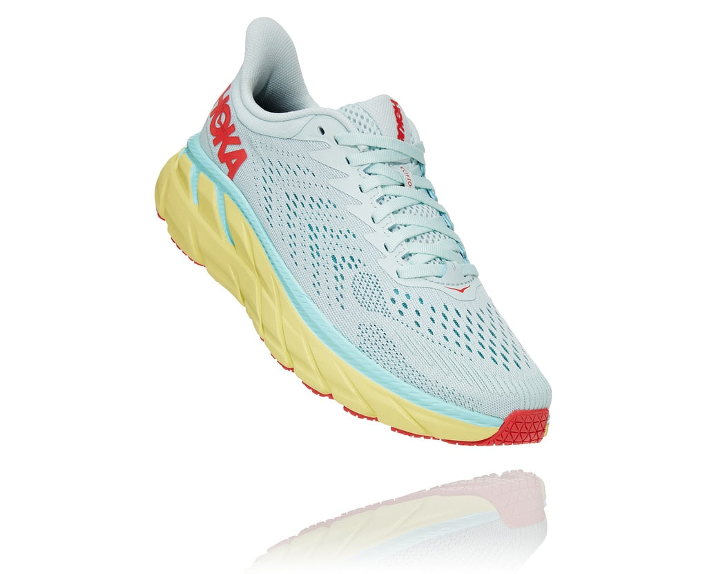 Hoka One One W Clifton 7 (Morning Mist/Hot Coral)