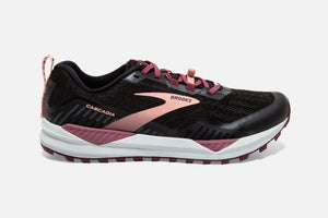 Brooks W Cascadia 15 (Black/Ebony/Coral Cloud)
