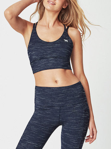 Running Bare Lotus Sports Bra (Blue Marle)