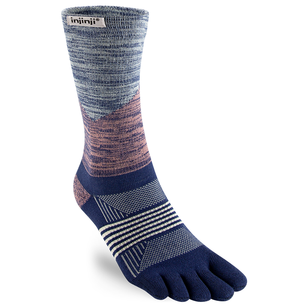 Injinji TRAIL 2.0 Women's Specific Midweight Crew (Rose River)