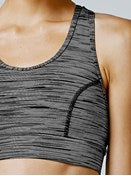Running Bare No Bounce Sports Bra (Black/Ivory)