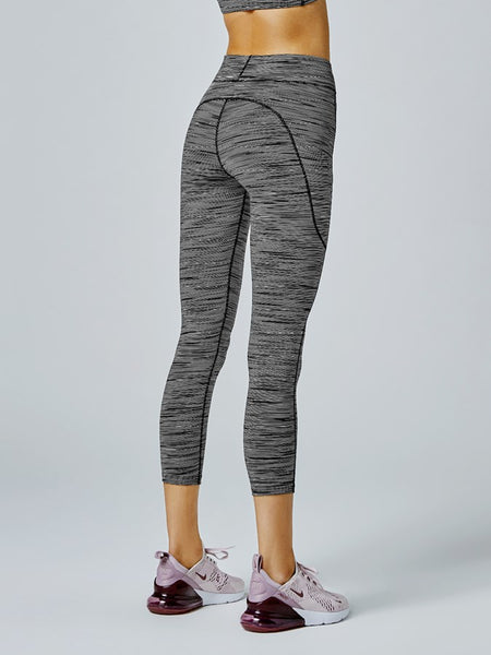 Running Bare Flex Zone 7/8 Length Tight (Black/Ivory)