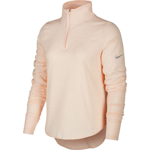 Nike W Sphere Element L/S Run Top (Washed Coral/Heather/Reflective Silver)