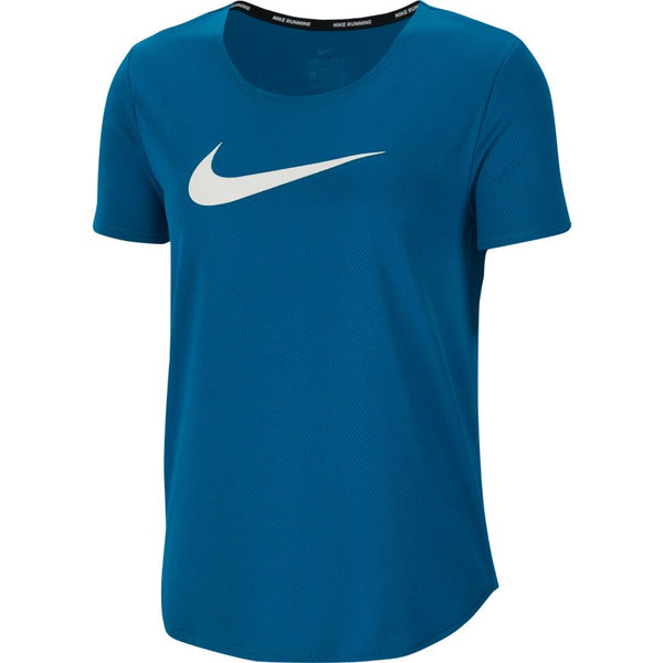 Nike W Swoosh Run S/S Tee (Green Abyss/White)