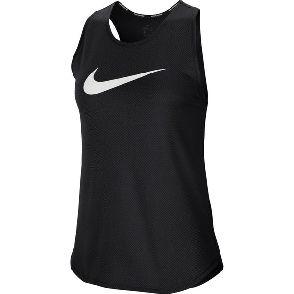 Nike W Swoosh Run Tank (Black/White)