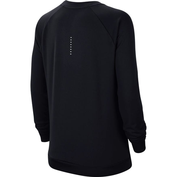 Nike W Swoosh Run L/S Crew (Black/White)