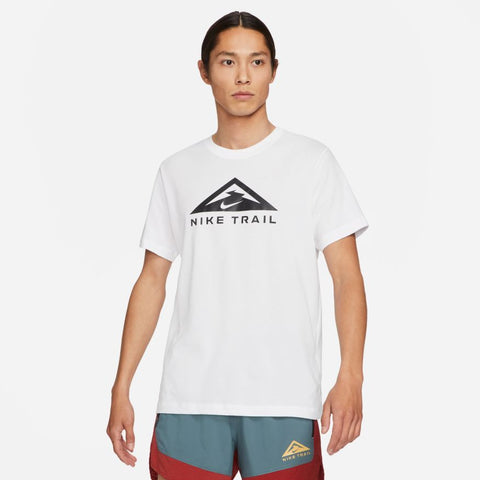 Nike M Dri-Fit Trail Running T-Shirt (White)