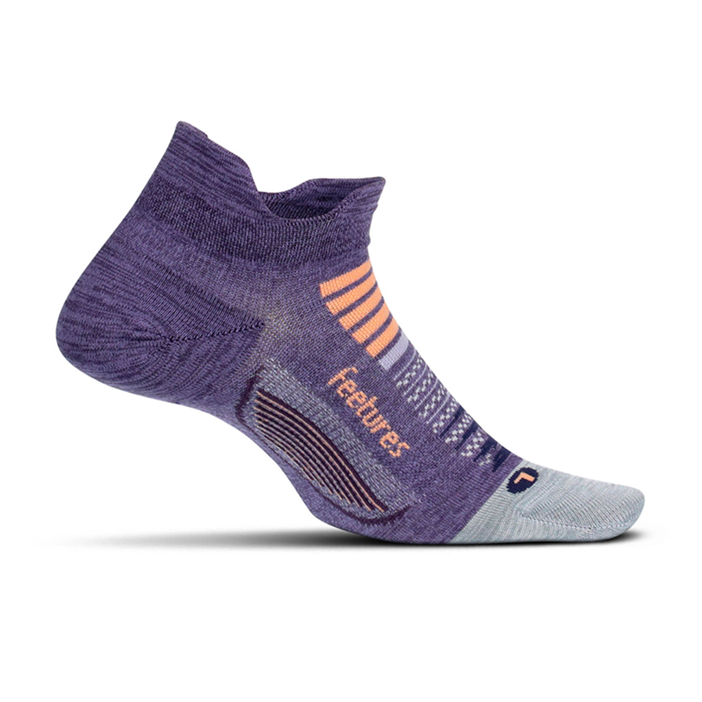Feetures Elite Light Cushion No Show Tab (Pulsar Purple)