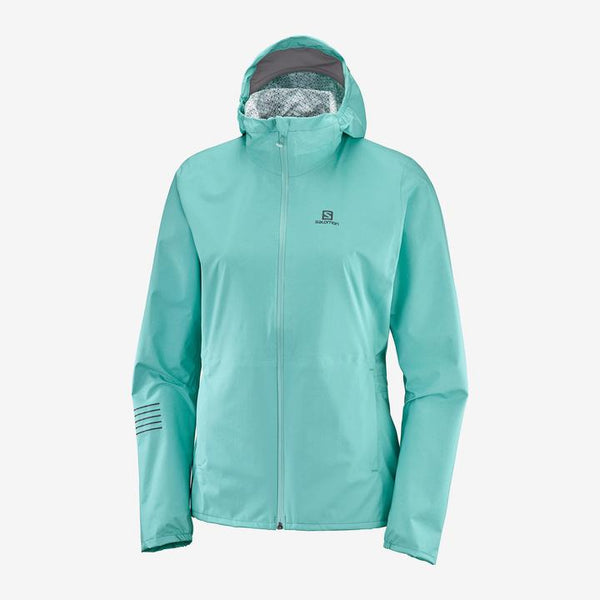 Salomon W Lightning Waterproof Jacket (Meadowbrook)