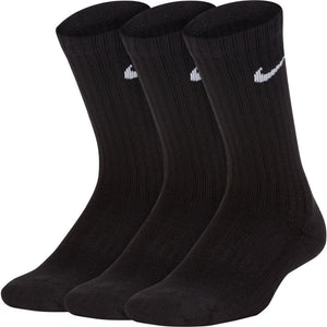 Nike Cotton Cushioned Crew Sock 3 Pack (Black)