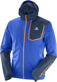 Salomon M Bonatti Pro Water Proof Jacket (Surf the web/Dress Blue)