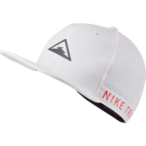 Nike Unisex Dri Fit Pro Trail Cap (White) (1 Size fits all)