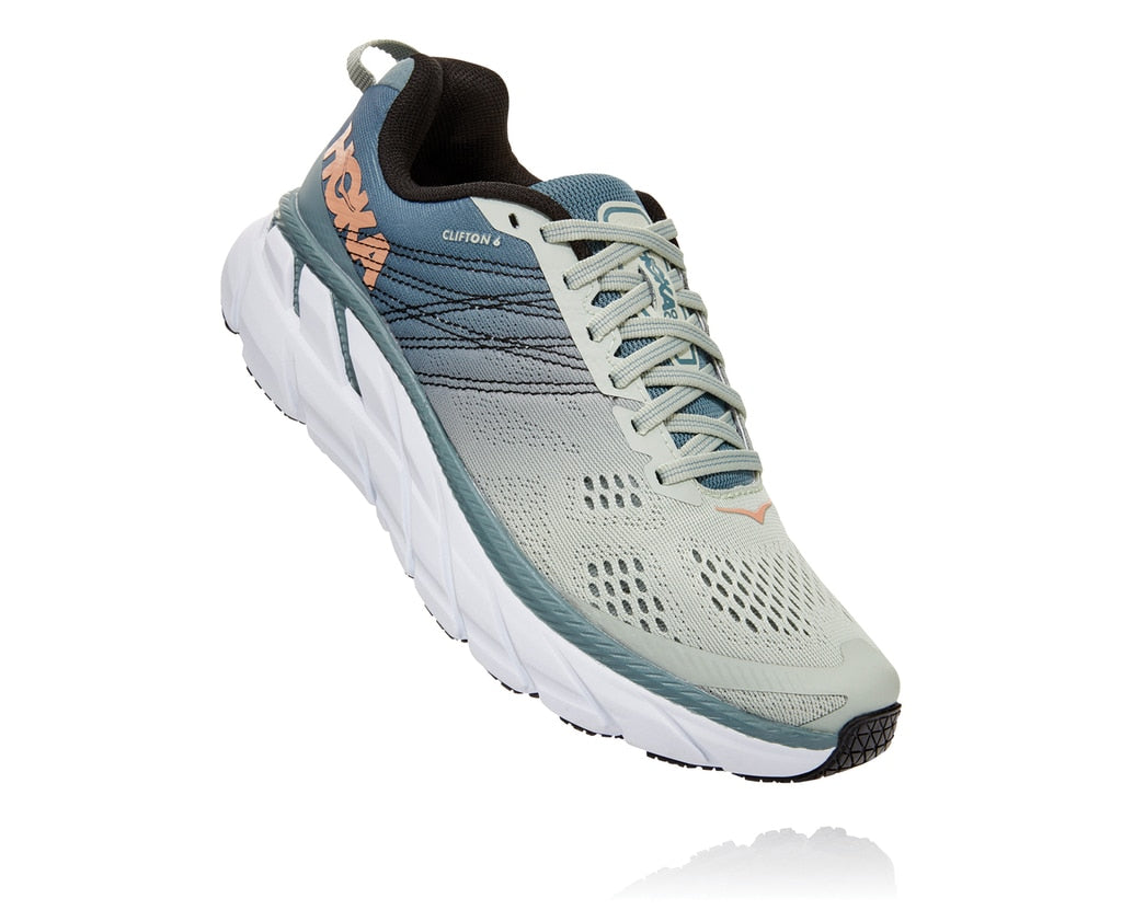 Hoka One One M Clifton 6 Wide (Lead/Lunar Rock)