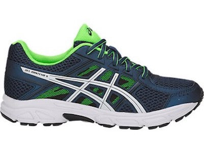 Asics Gel-Contend 4 GS (Dark Blue/White/Green Gecko)
