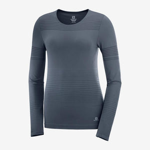 Salomon W Elevate Move On L/S Tee (Ebony)