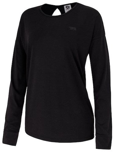 Running Bare Jet Set L/S Pullover Tee (Black)