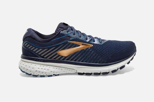 Brooks M Ghost 12 (Navy/Deep Water/Gold)