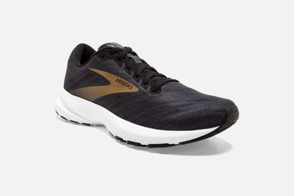 Brooks M Launch 7 (Black/White/Gold)