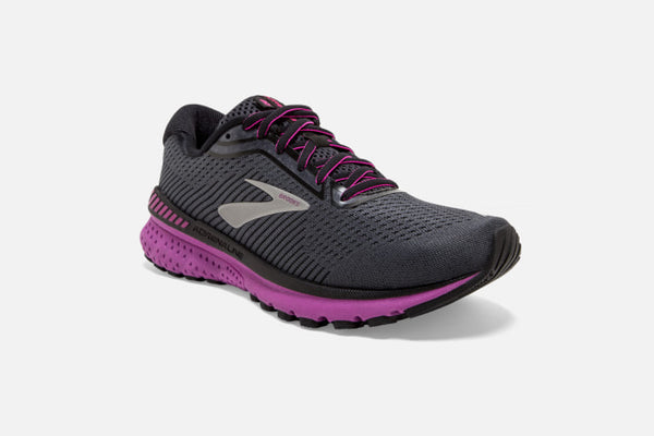 Brooks W Adrenaline GTS 20 (B) (Ebony/Black/Holyhock)