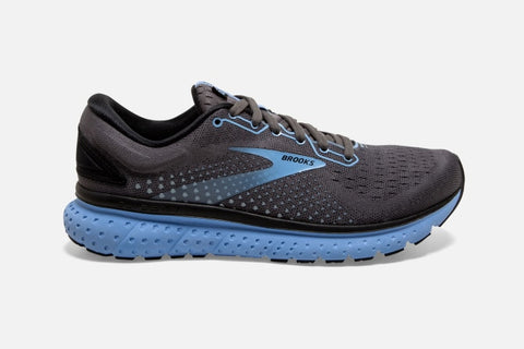 Brooks W Glycerin 18 (Black/Ebony/Cornflower) (B)