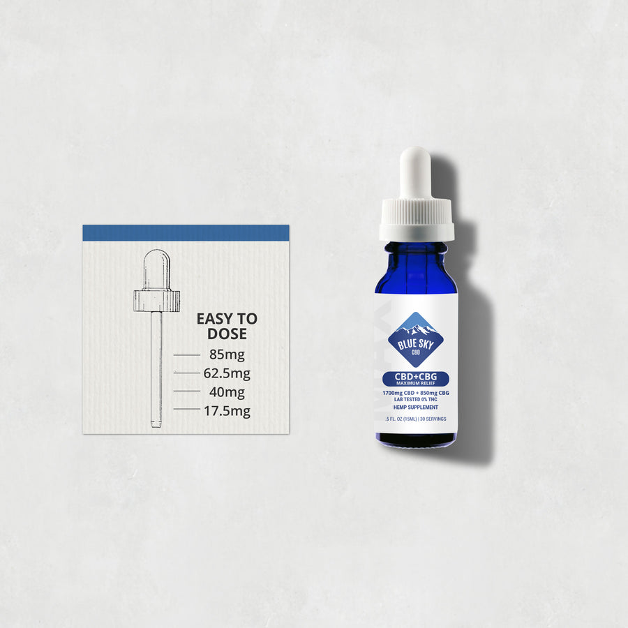 Blue Sky CBD + CBG Maximum Relief Oil 2550mg
