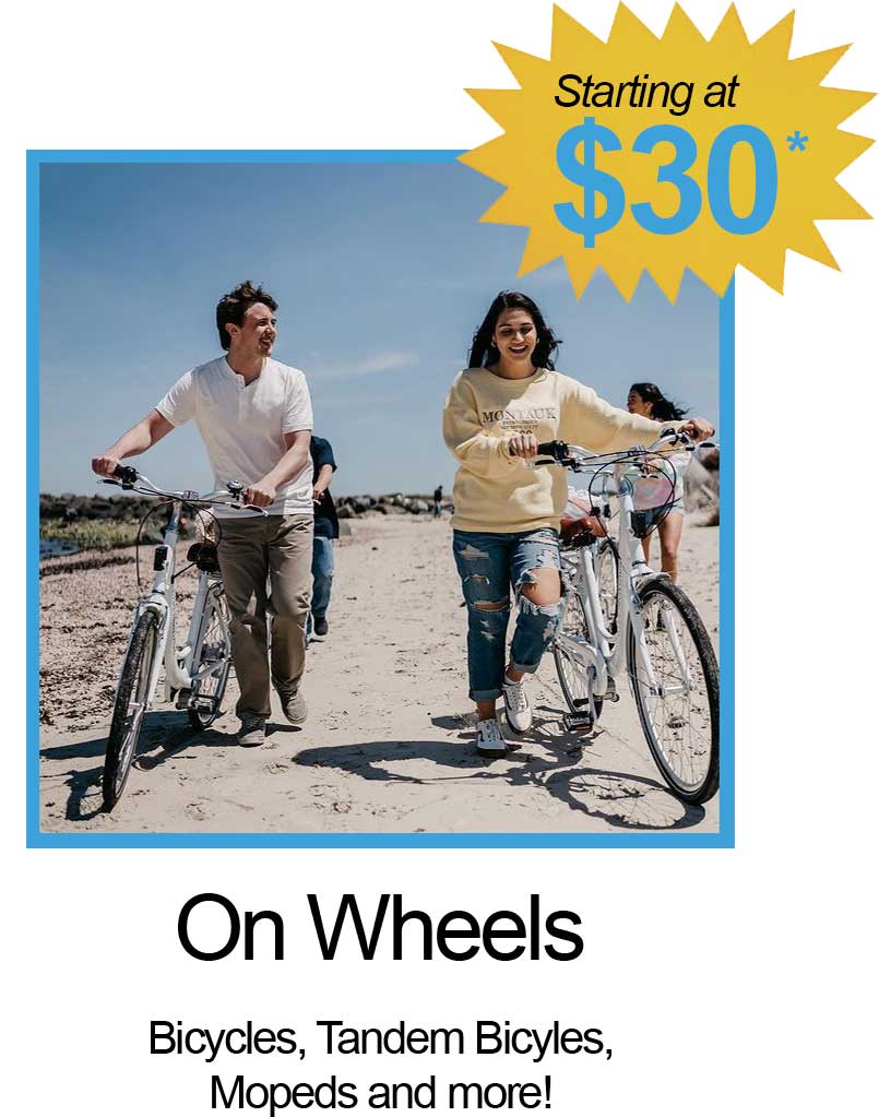Bicycles, Tandem Bicycles, Mopeds and More!