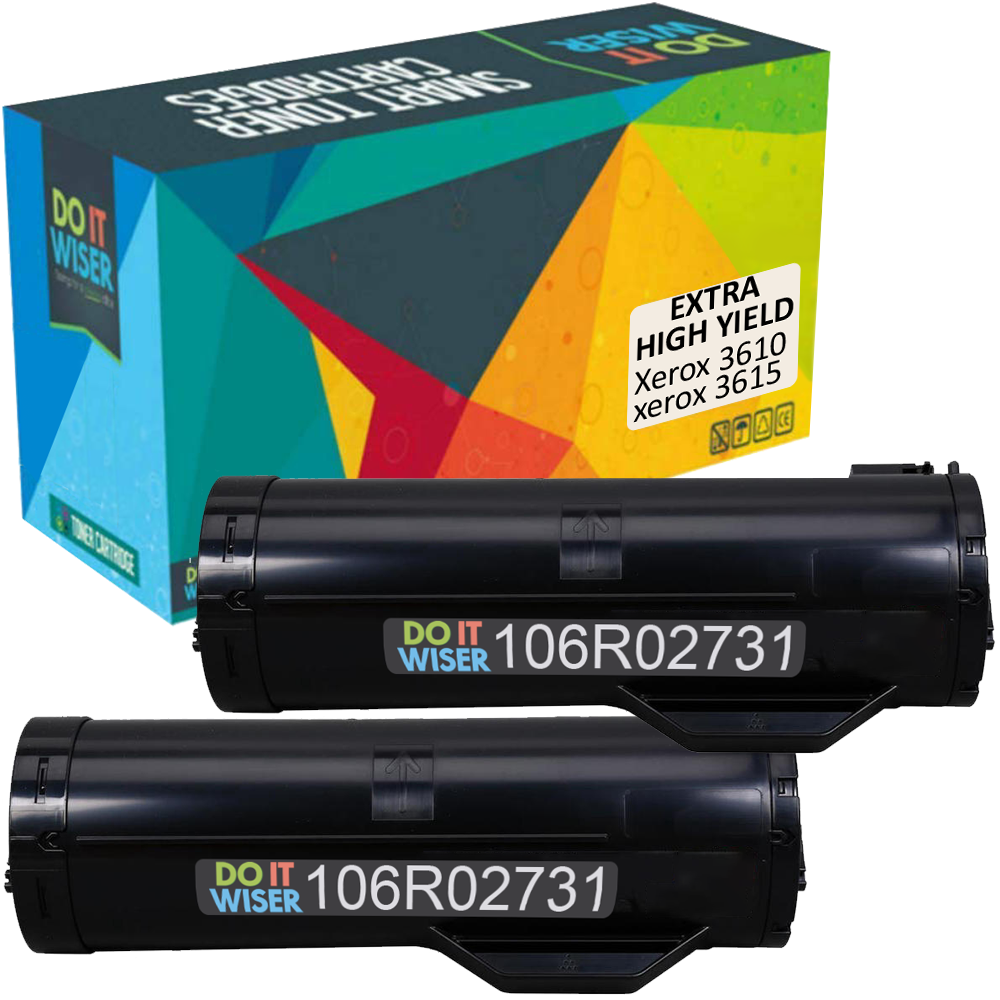 Xerox Phaser 3610DNW Toner Black 2pack Extra High Yield