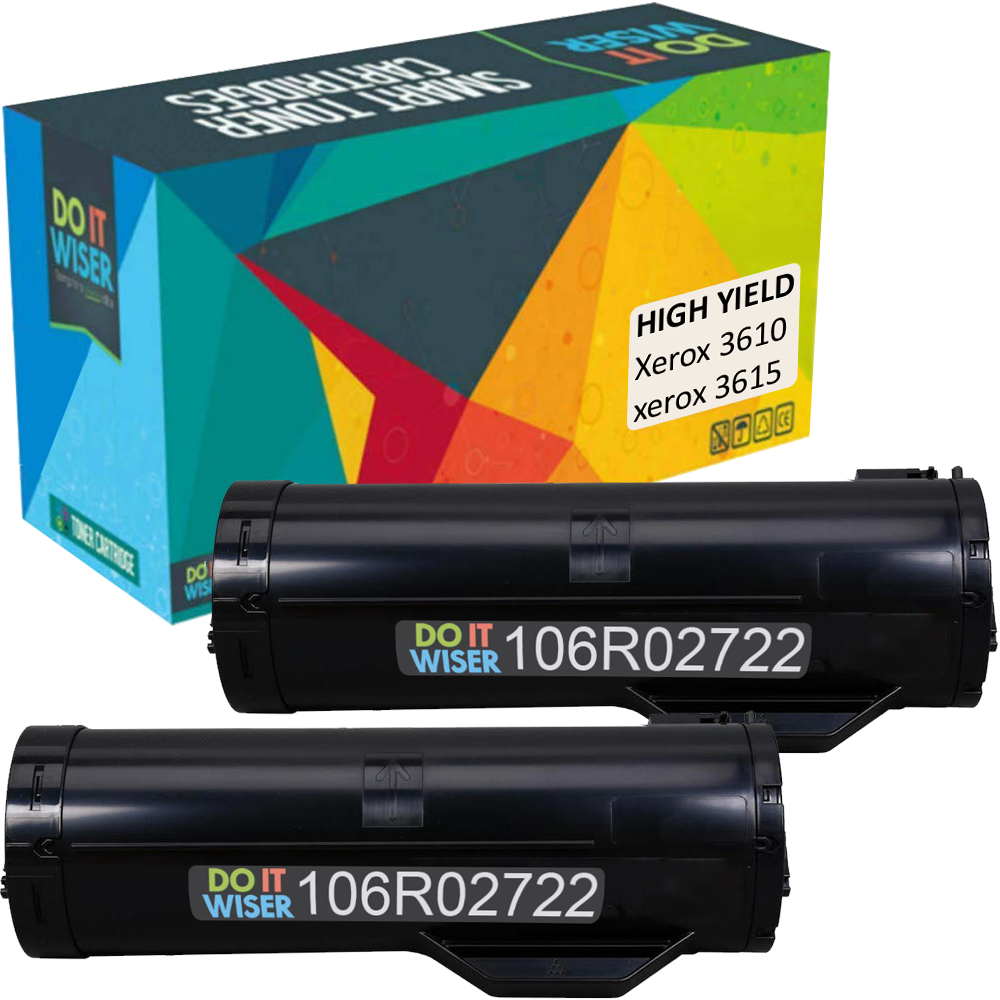 Xerox WorkCentre 3615 Toner Black 2pack High Yield