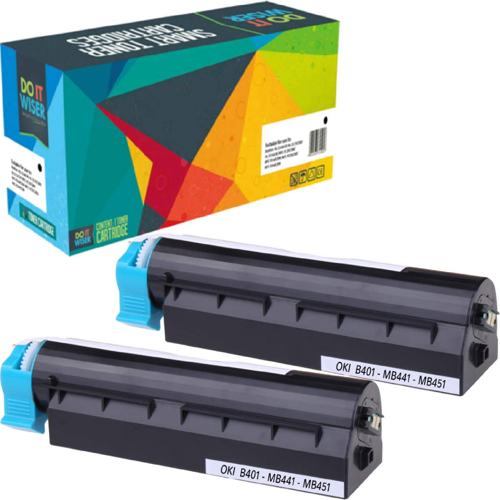 OKI MB451 Toner Black 2pack