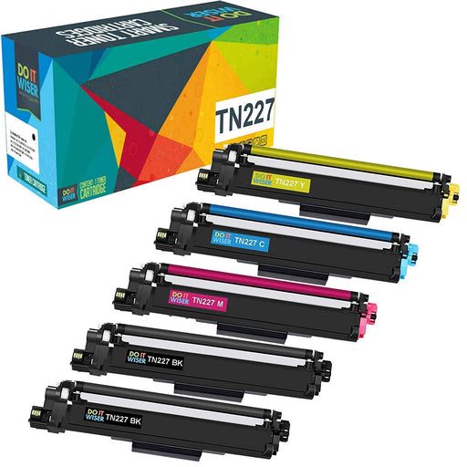 Brother TN227 Toner 5pack High Yield