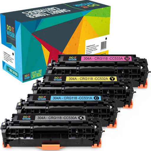 HP Color LaserJet CP2025n Toner Set High Yield