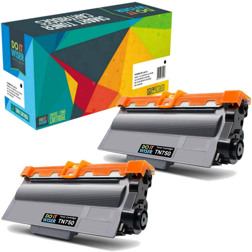 Brother TN750 Toner Black 2pack High Yield