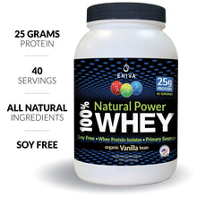 Load image into Gallery viewer, Natural Power Whey Protein (40 Servings - 1 Jar)