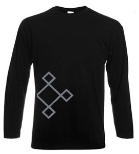 KACPH Mens Long Sleeve Black T-Shirt - Front