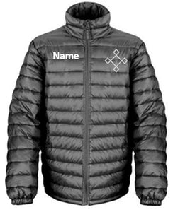 KACPH Mens Lightweight Black Padded Jacket -  Front