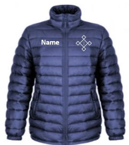 KACPH Mens Lightweight Blue Padded Jacket -  Front