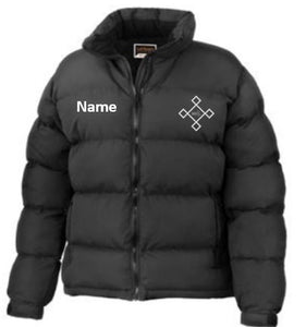 KACPH Womens Black Down Jacket - Front