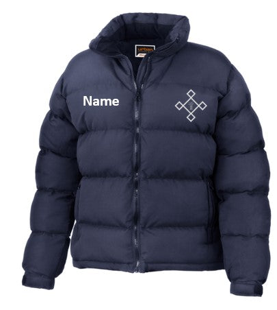 KACPH Womens Navy Down Jacket - Front