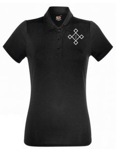 KACPH Womens Performance Black Polo Shirt - Front
