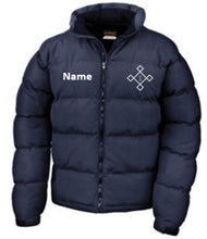 Load image into Gallery viewer, KACPH Mens Navy Down Jacket - Front
