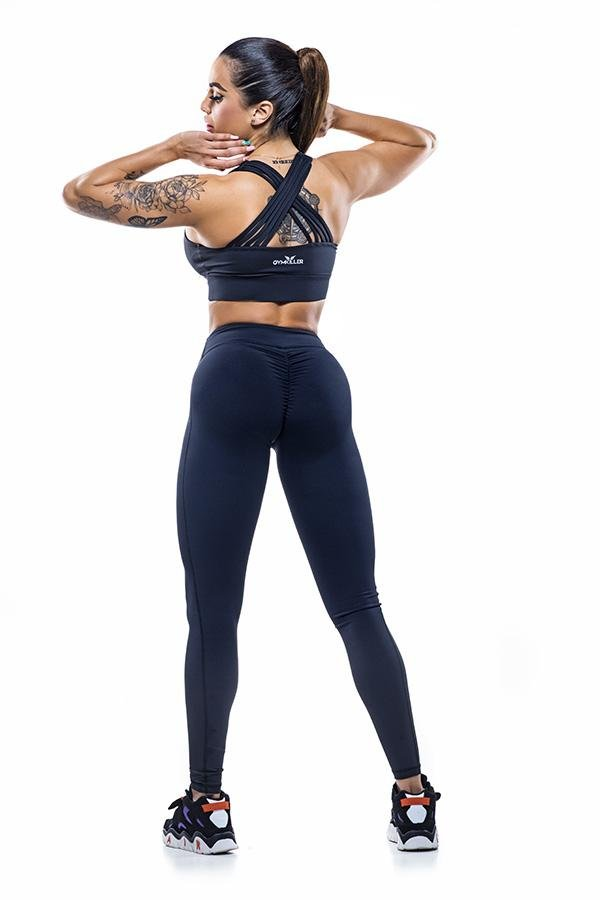 DALY Sports Bra Black - GYMKILLER