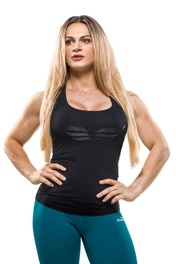 EVELIEN Tank Top Black - GYMKILLER