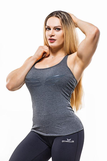 EVELIEN Tank Top Grey - GYMKILLER