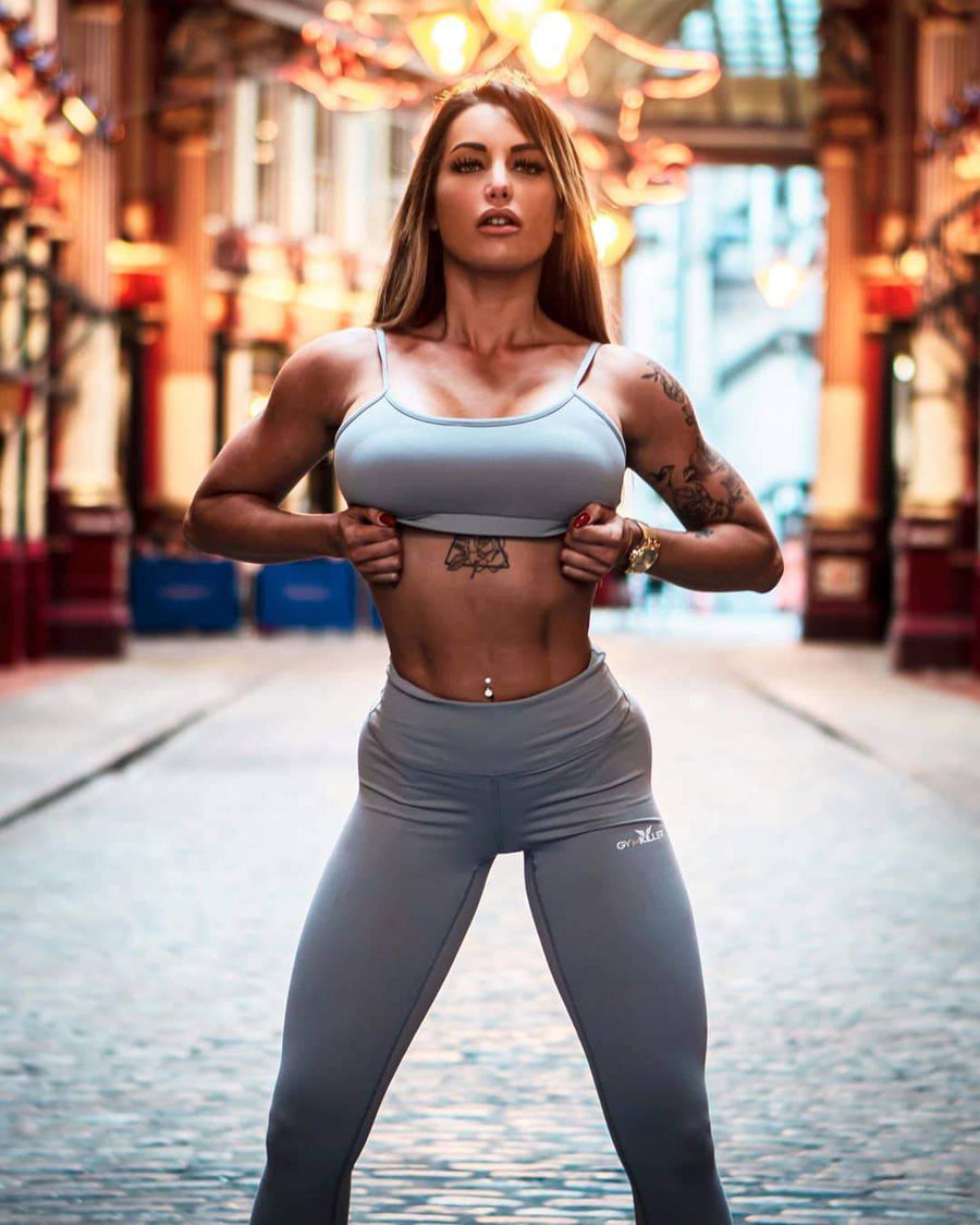 JENNIFER Sports Bra grey - GYMKILLER